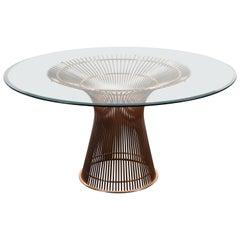 Rosé-goldener Tisch von Warren Platner für Knoll