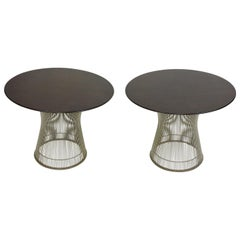 Warren Platner for Knoll Wire and Walnut End or Side Tables