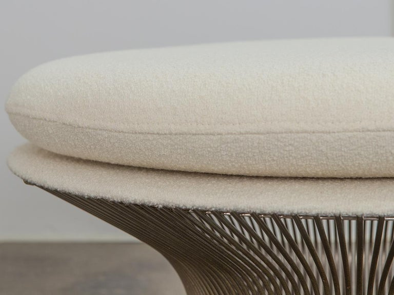 Warren Platner for Knoll Wire Ottoman In Excellent Condition For Sale In Brooklyn, NY