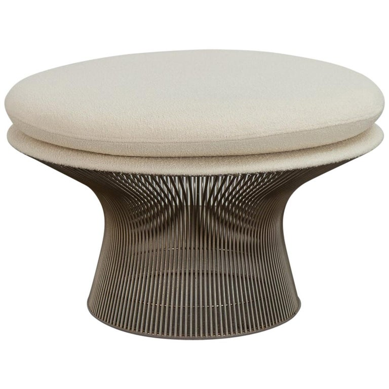 Warren Platner for Knoll Wire Ottoman For Sale