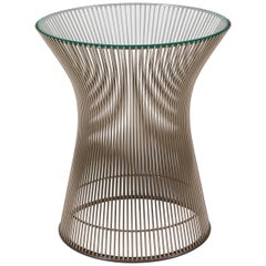 Warren Platner Glass and Chrome Side Table for Knoll, USA, 1970s