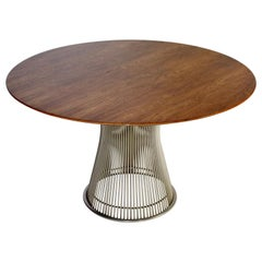 Warren Platner Knoll Dining Table Walnut Top