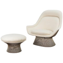 Warren Platner Easy Lounge Chair and Ottoman