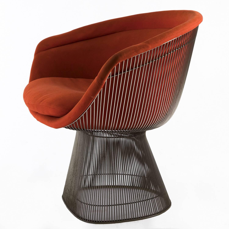 Original Warren Platner Lounge Chair For Knoll, Circa 1966. Nickel Plate  Steel And