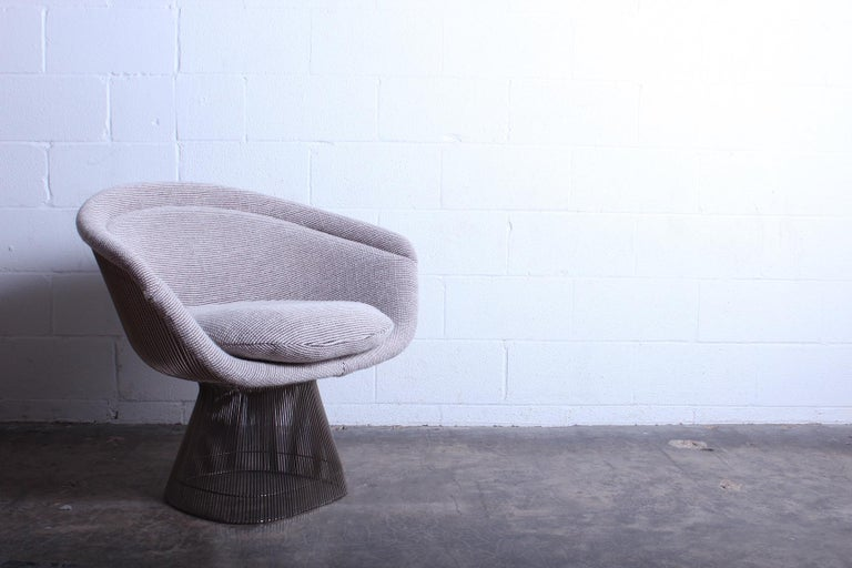 Nickel Warren Platner Lounge Chair for Knoll For Sale