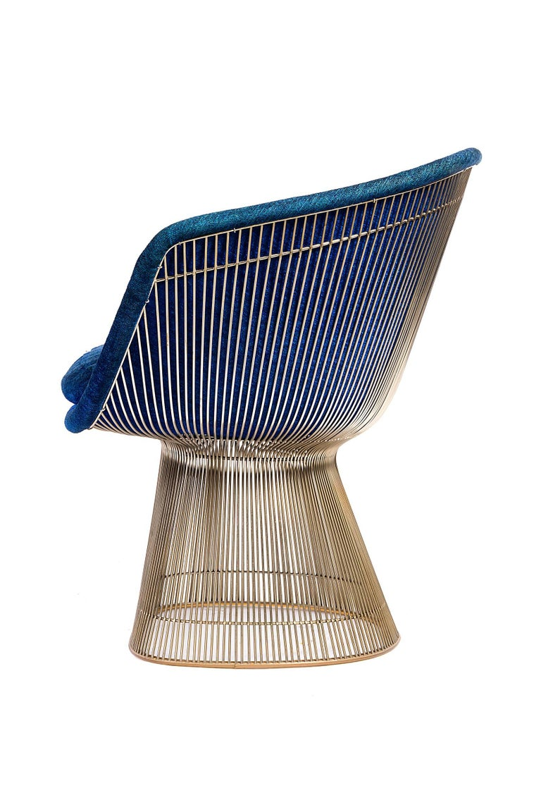 Mid-Century Modern Warren Platner Lounge Chairs for Knoll in Original Fabric, USA, 1960s For Sale