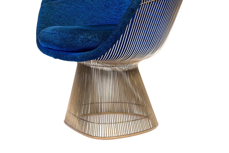 Mid-20th Century Warren Platner Lounge Chairs for Knoll in Original Fabric, USA, 1960s For Sale