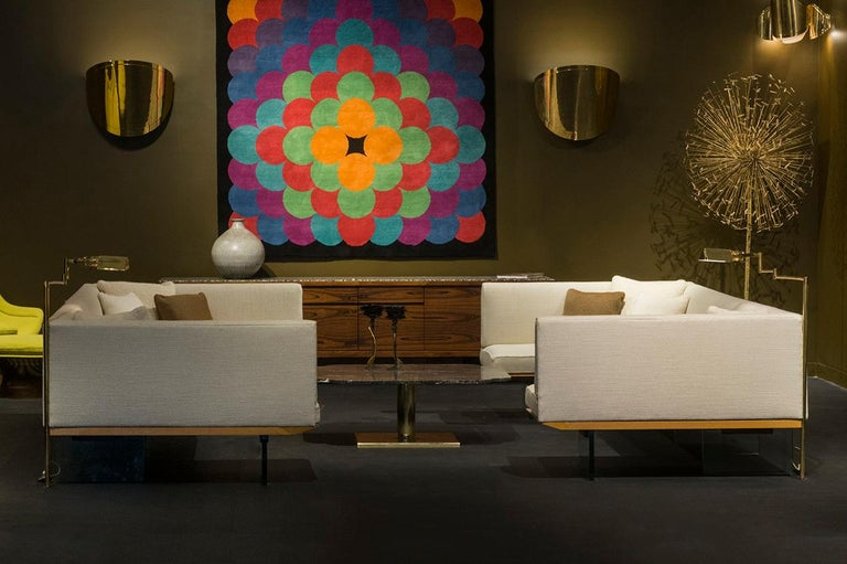 Warren Platner Marble and Brass Coffee Table 12