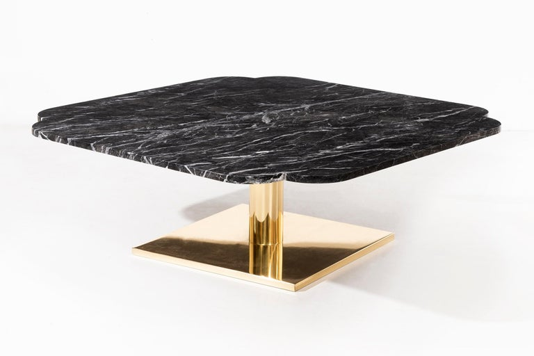 Warren Platner Marble and Brass Coffee Table 3