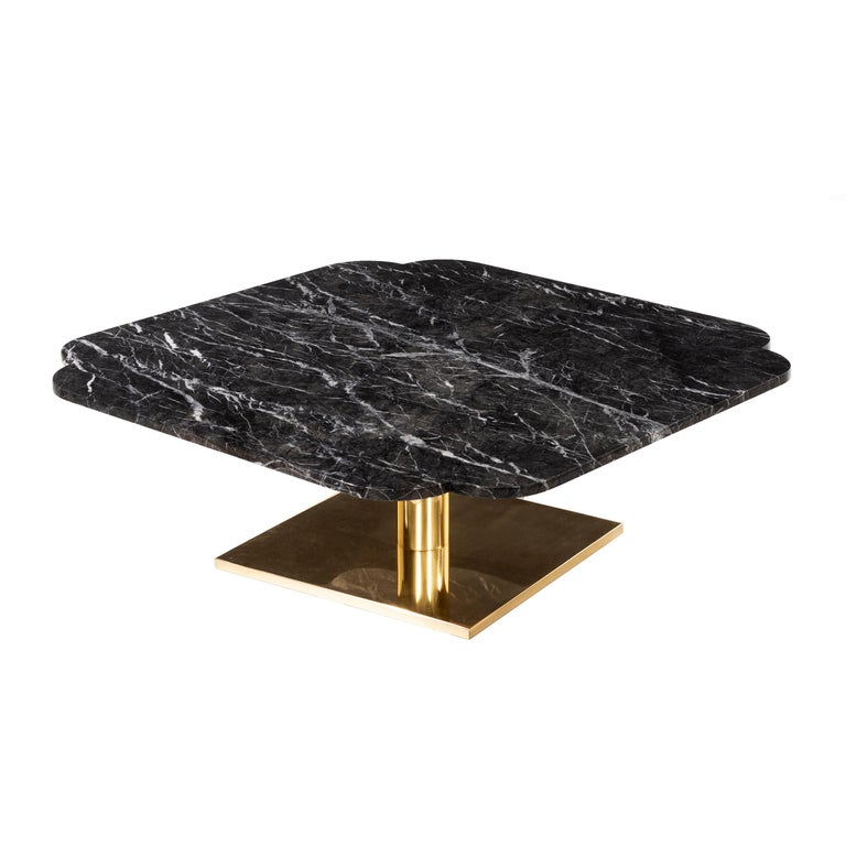 Warren Platner Marble and Brass Coffee Table 5