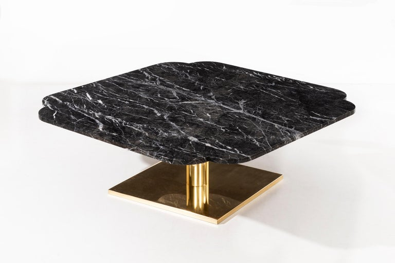 Warren Platner Marble and Brass Coffee Table 6