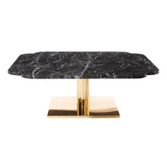 Warren Platner Marble and Brass Coffee Table