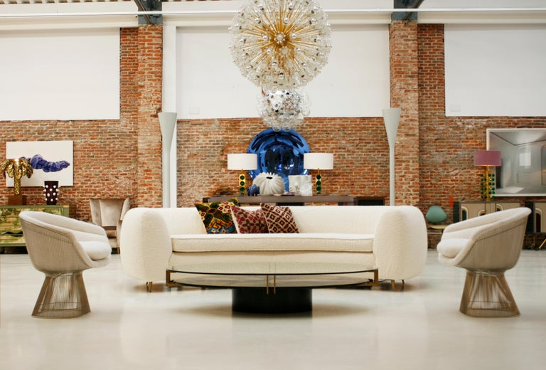 Warren Platner Mid-Century Modern for Knoll Wool American Dining Chair, Set of 2 5