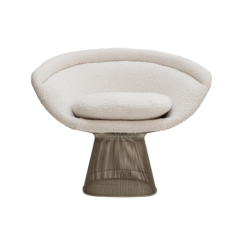 Warren Platner Mid-Century Modern for Knoll Wool American Dining Chair, Set of 2 In Good Condition In Madrid, ES