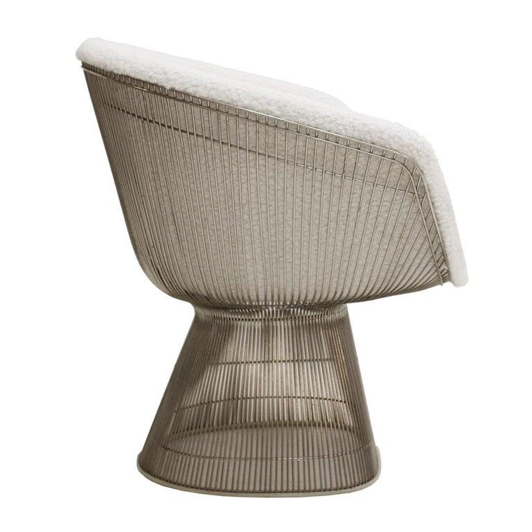 Steel Warren Platner Mid-Century Modern for Knoll Wool American Dining Chair, Set of 2