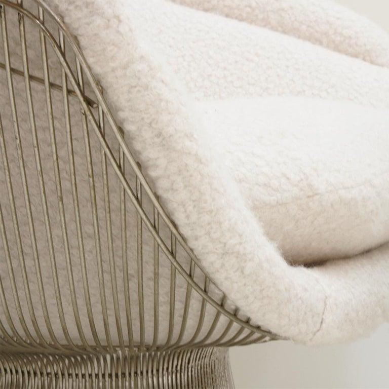 Warren Platner Mid-Century Modern for Knoll Wool American Dining Chair, Set of 2 2