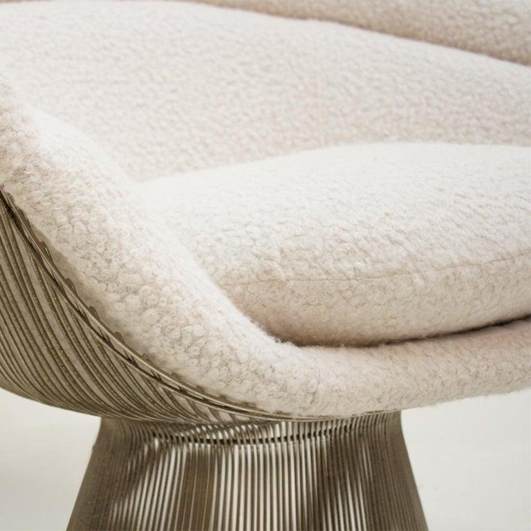 Warren Platner Mid-Century Modern for Knoll Wool American Dining Chair, Set of 2 3