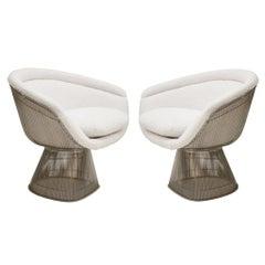 Warren Platner Mid-Century Modern for Knoll Wool American Dining Chair, Set of 2