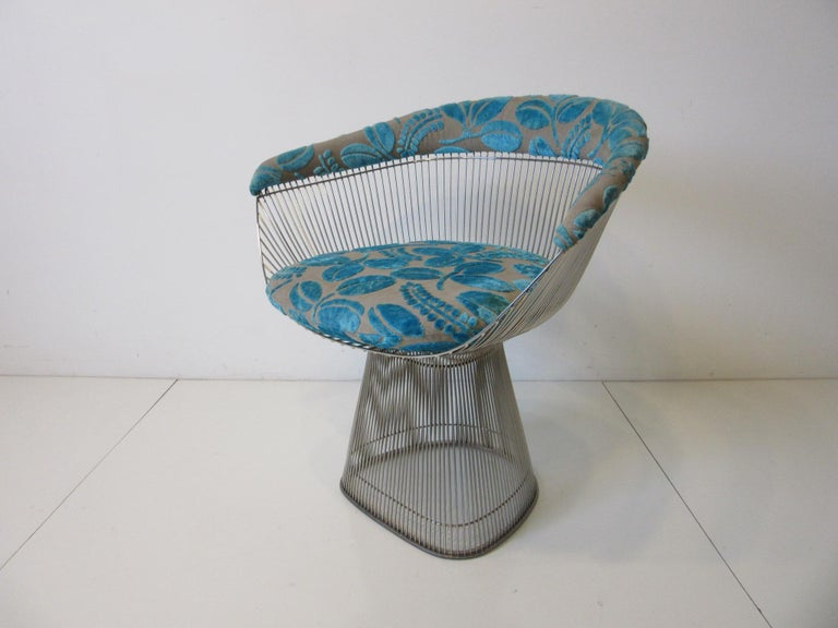 Warren Platner Nickel Chrome Lounge Chair for Knoll For Sale 4