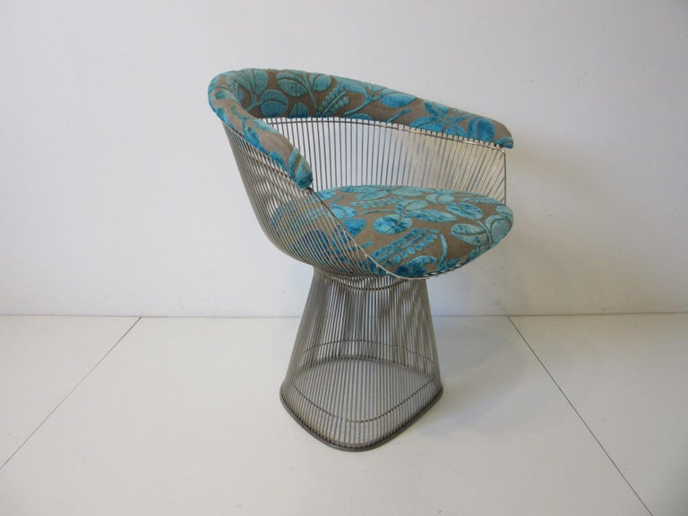Mid-Century Modern Warren Platner Nickel Chrome Lounge Chair for Knoll For Sale