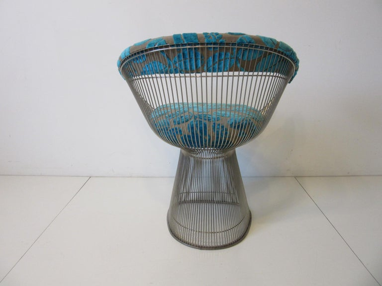 American Warren Platner Nickel Chrome Lounge Chair for Knoll For Sale
