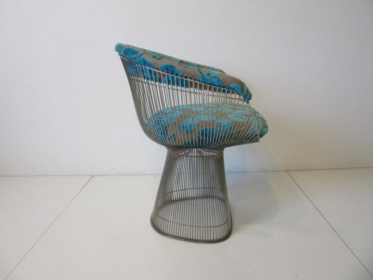 Warren Platner Nickel Chrome Lounge Chair for Knoll In Good Condition For Sale In Cincinnati, OH