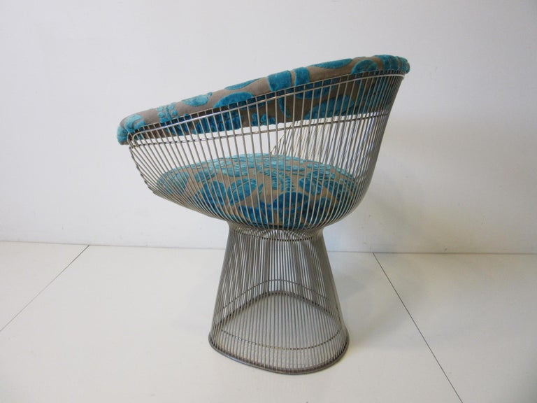20th Century Warren Platner Nickel Chrome Lounge Chair for Knoll For Sale