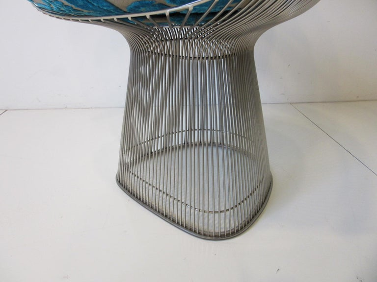 Metal Warren Platner Nickel Chrome Lounge Chair for Knoll For Sale