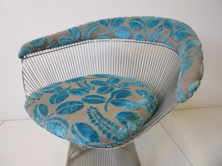 Warren Platner Nickel Chrome Lounge Chair for Knoll For Sale 2