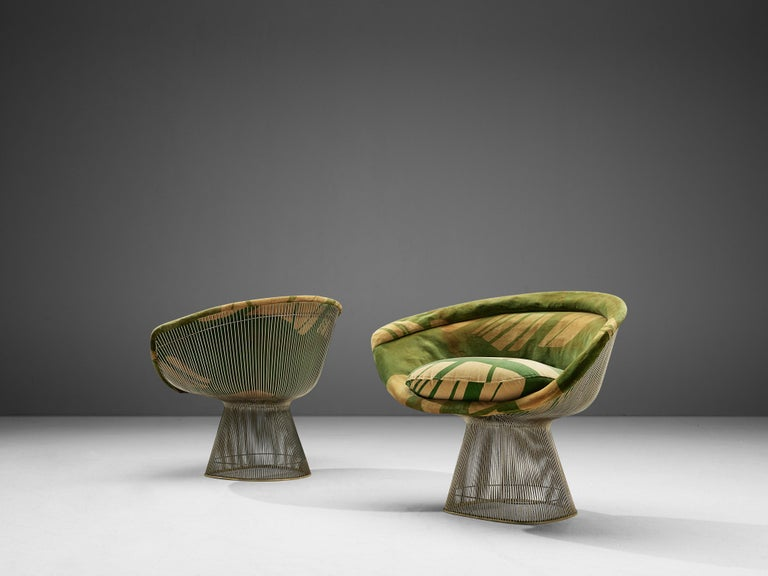 Mid-Century Modern Warren Platner Pair of Lounge Chairs For Sale
