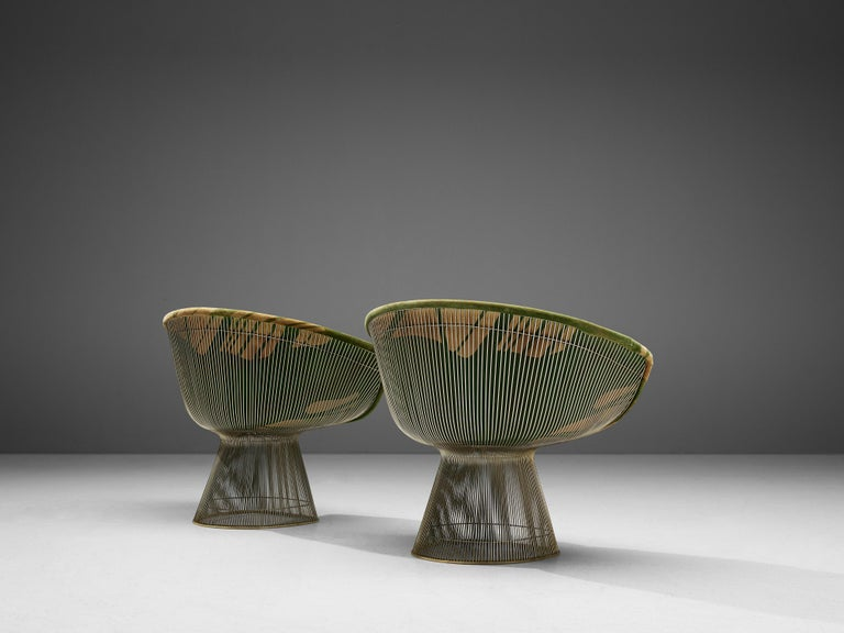 American Warren Platner Pair of Lounge Chairs For Sale