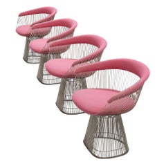 Warren Platner Pink Lounge Chairs