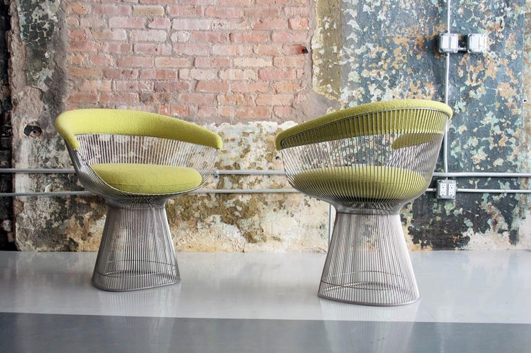 0f5943be162f Mid-Century Modern Warren Platner Side or Dining Chairs Knoll For Sale