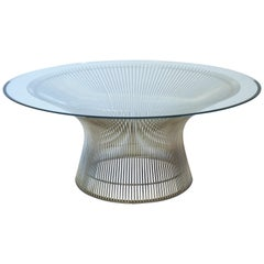 Warren Platner Steel Wire and Glass Coffee Table for Knoll