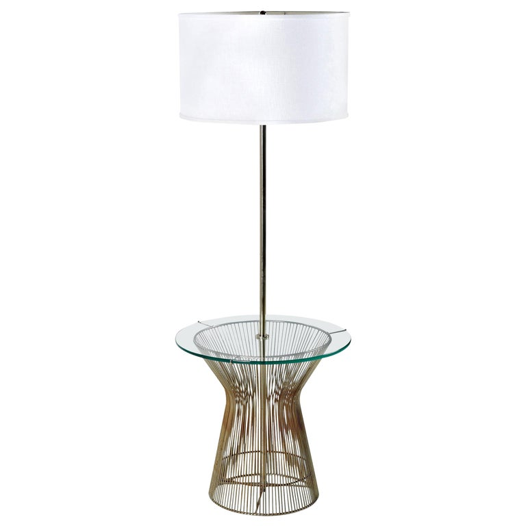 Warren Platner Style Metal Wire and Glass Table Lamp by Laurel For Sale