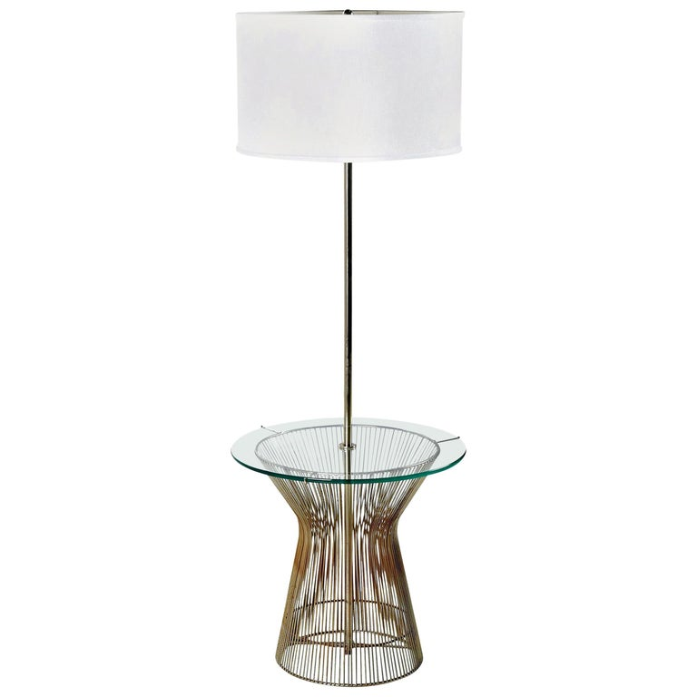 Warren Platner Style Metal Wire and Glass Table Lamp For Sale