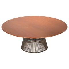 Warren Platner Teak and Bronze Coffee Table for Knoll