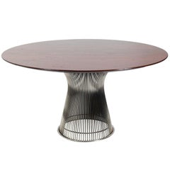 Warren Platner Walnut and Chrome Dining Table