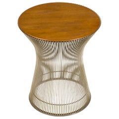 Warren Platner Walnut and Chrome Side Table for Knoll, USA, 1970s