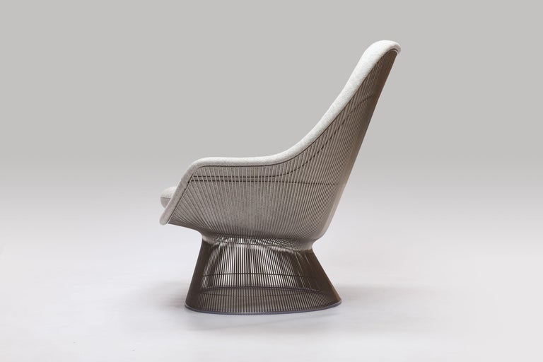 Warren Platner Wire Series Easy Chair in Knoll Fabric by Knoll In Excellent Condition For Sale In Utrecht, NL