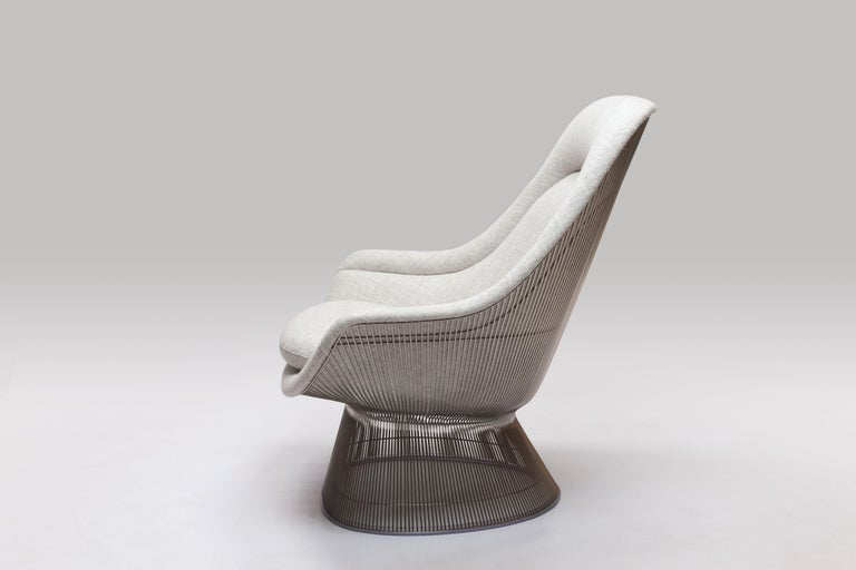 Mid-20th Century Warren Platner Wire Series Easy Chair in Knoll Fabric by Knoll For Sale