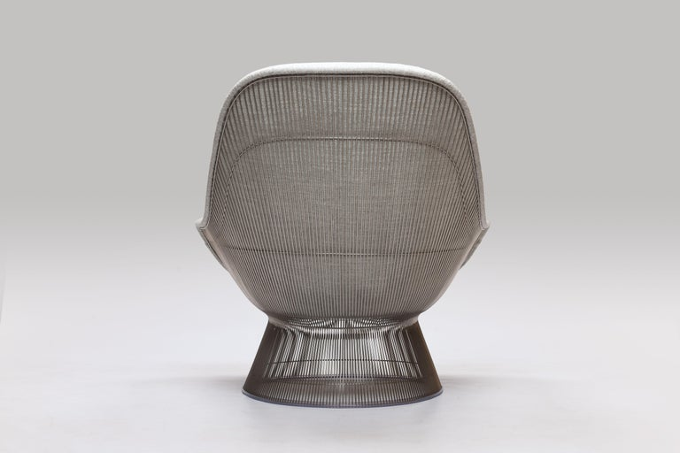 Warren Platner Wire Series Easy Chair in Knoll Fabric by Knoll For Sale 2