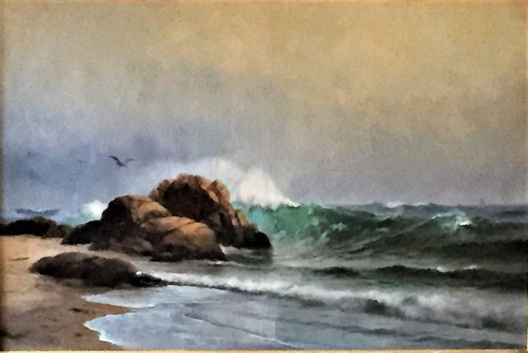 The Surf at Newport - Painting by Warren W. Sheppard