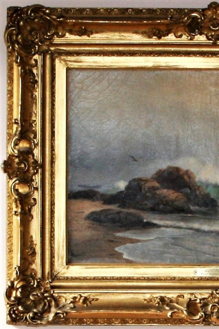 The Surf at Newport - American Modern Painting by Warren W. Sheppard