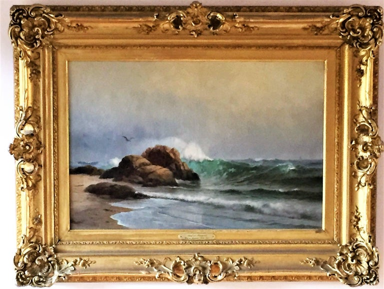 Warren W. Sheppard Landscape Painting - The Surf at Newport