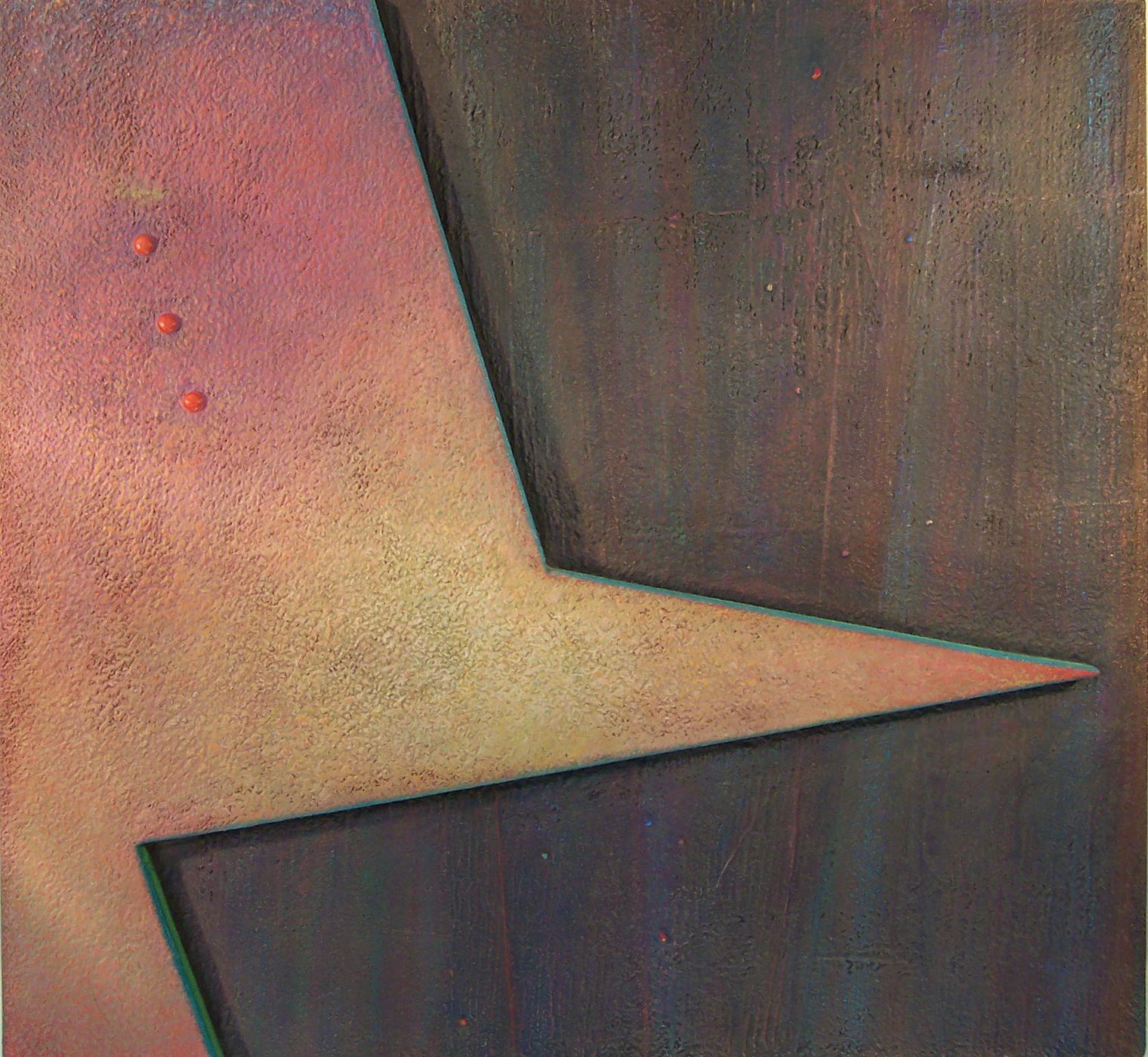 Adar & Akzar #2, Abstract Oil on Masonite by Warren Wolf