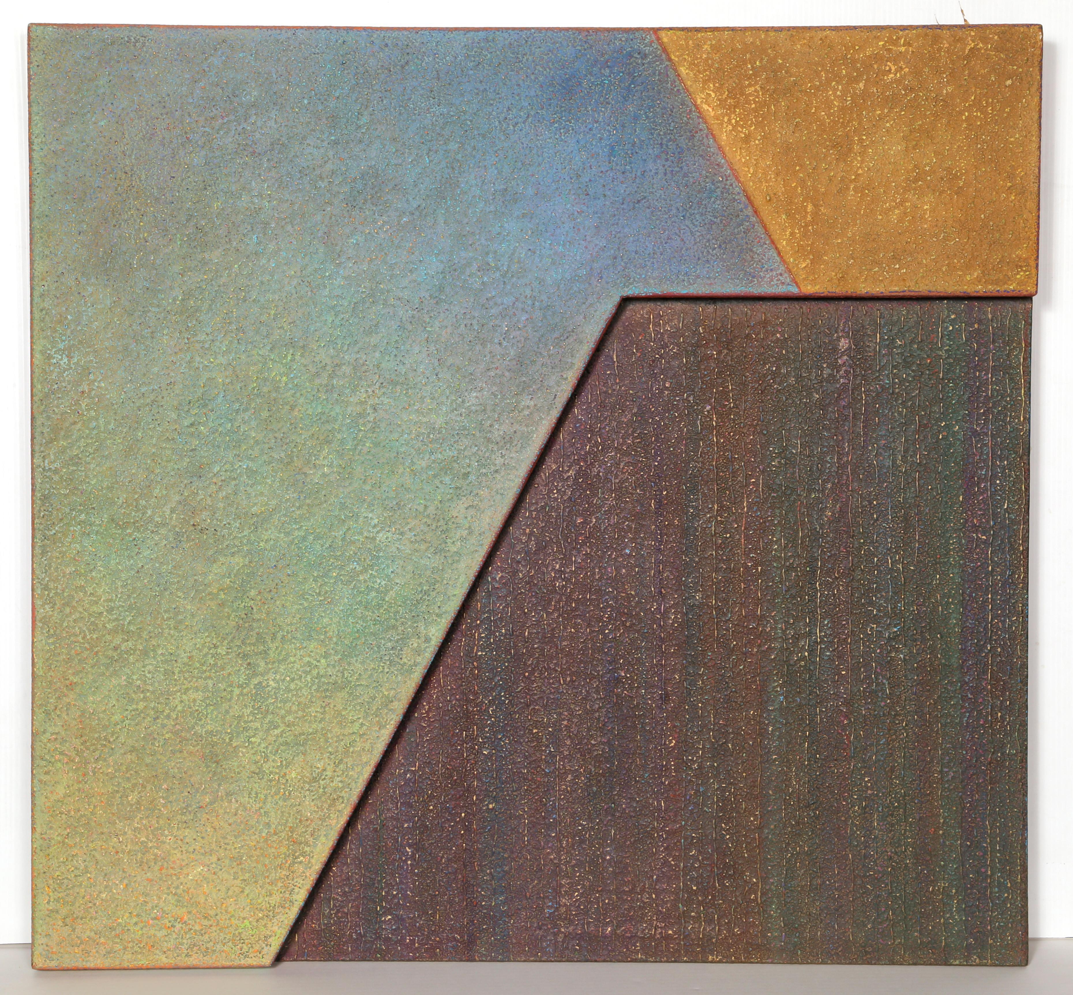 Yachal & 'Aniyah #2, Abstract Oil on Masonite by Warren Wolf
