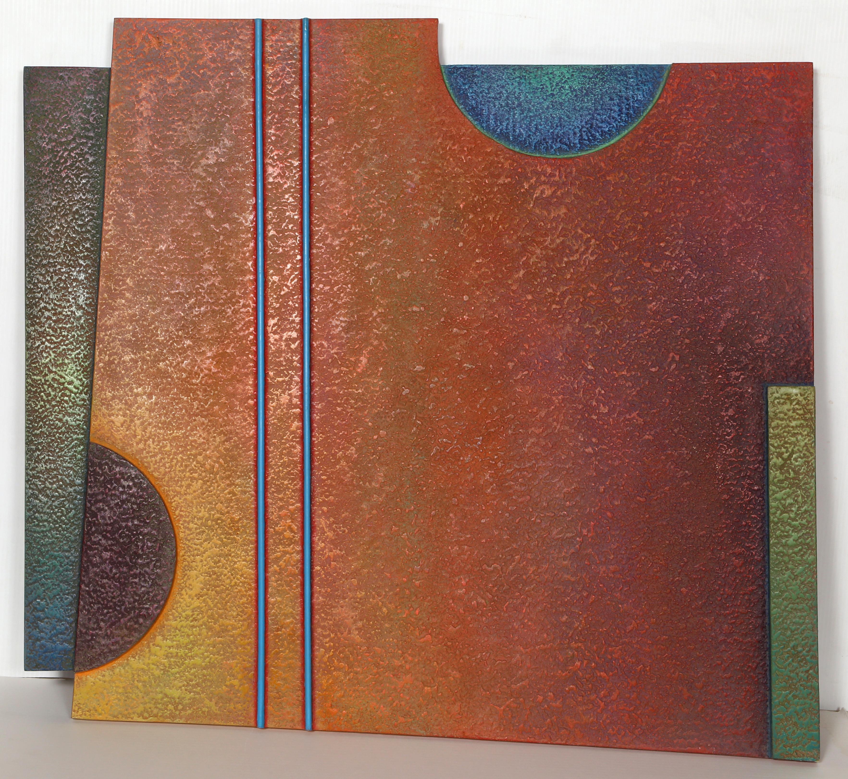 Zebuwl 2, Abstract Oil on Masonite by Warren Wolf