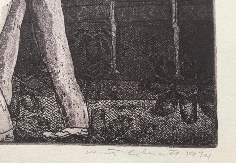 STAG NIGHT SMOKER AT KEY BISCAYNE - Print by Warrington Colescott