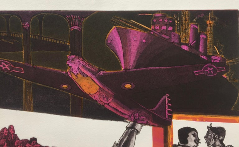 WARRINGTON COLESCOTT (1921 - 2018) STAG NIGHT SMOKER AT KEY BISCAYNE, 1974                                                                                                                                                              Intaglio, soft